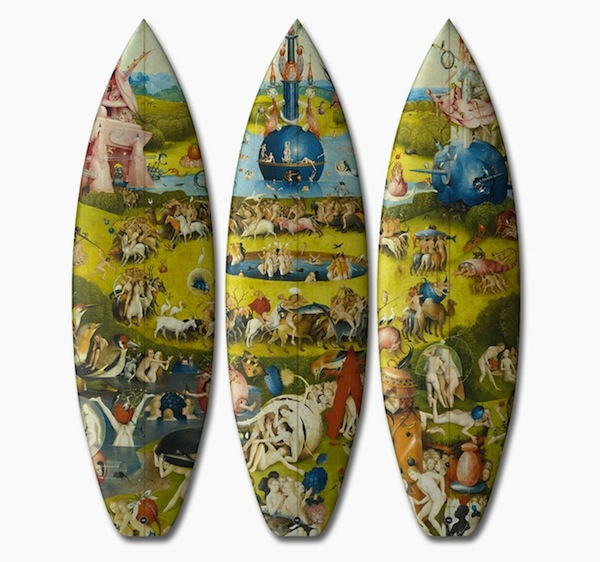 找出区隔! 15世纪欧式风格彩绘冲浪板